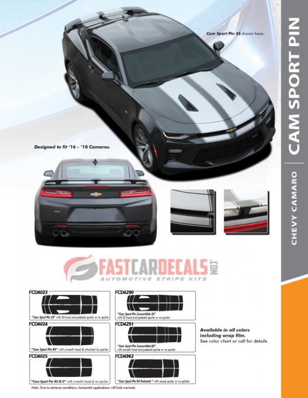 2016-2018 Chevy Camaro SPORT PIN Stripes