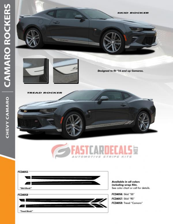 2016-2019 Chevy Camaro TRED & SKID ROCKERS