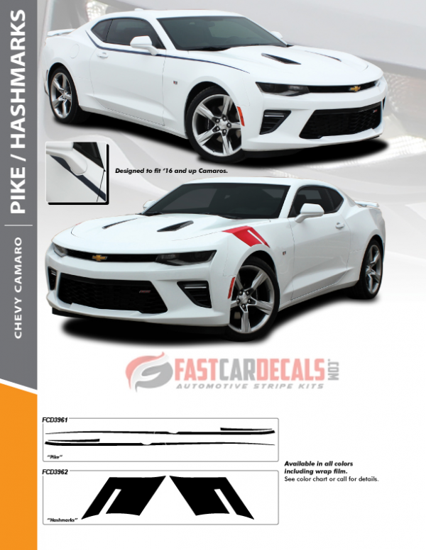2017 Chevy Camaro Stripes and Decals HASH MARKS 2016-2018