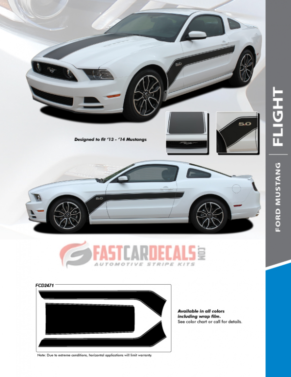 2013-2014 Ford Mustang FLIGHT Stripes