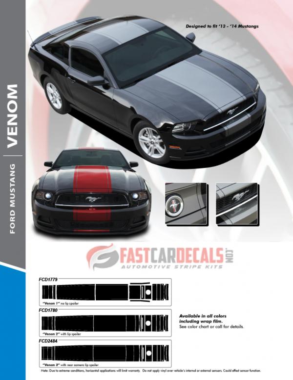 2013-2014 Ford Mustang VENOM Stripes