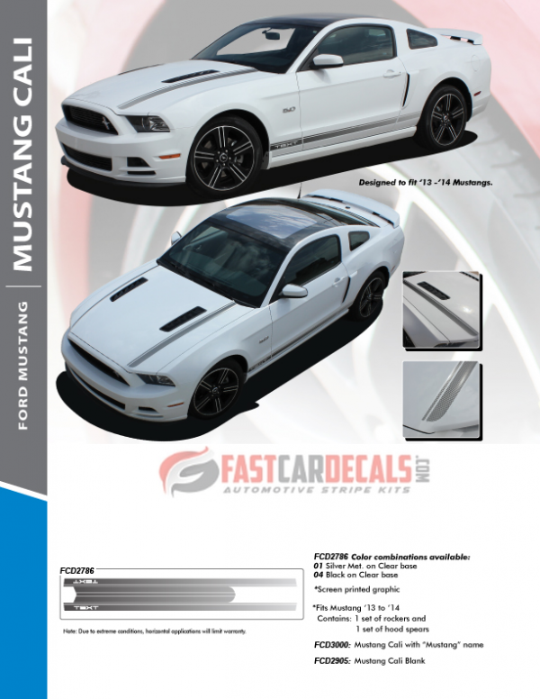 2013-2014 Ford Mustang CALI Stripes