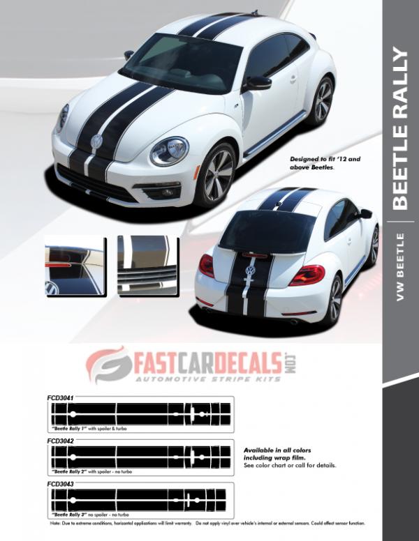 VW Beetle Rally Stripes BEETLE RALLY 2012-2016 2017 2018