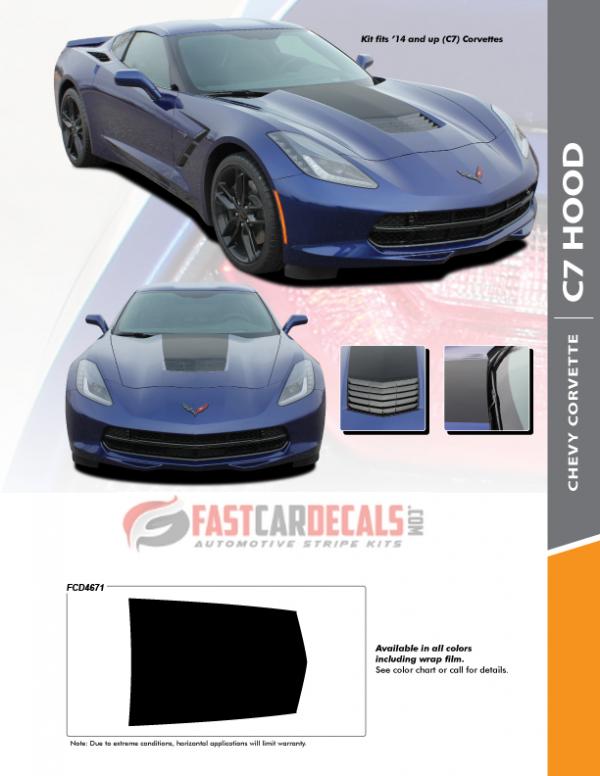 2014-2019 Chevy Corvette C7 HOOD Stripes