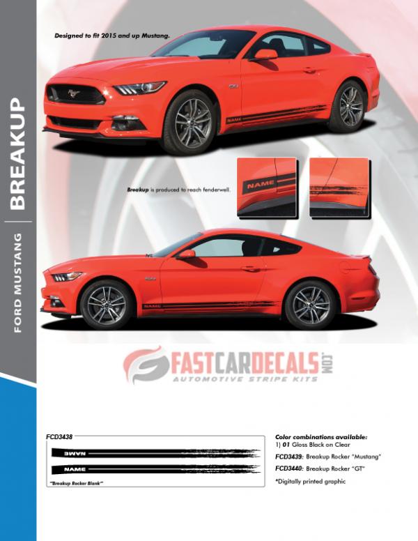 2017 Mustang GT Rocker Fading Stripes 15 BREAKUP 2015 2016 2017